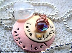 Personalized Necklace I carry your Heart by OrganicRustCreation