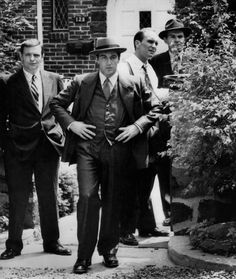 The Godfather - Michael Corleone in the family Staten Island compound with Al Neri and Tom Hagen