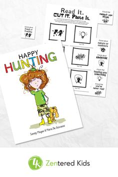 Happy Hunting is the story of Liza, a girl who wakes up one morning believing she's lost her HAPPY. When her mom suggests she go hunting for it, Liza's adventure begins. Good Books, My Books, Feeling Thankful, How To Start Conversations, Kids Reading, Coping Skills, Kids Health, Stories For Kids, Communication Skills