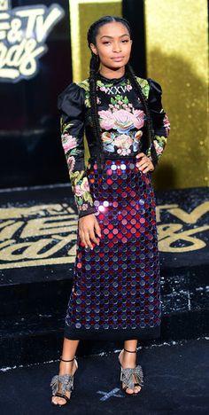 Yara Shahidi in Gucci Spring 2017