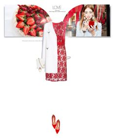"""""""St Valentin"""" by mahora ❤ liked on Polyvore featuring Tory Burch, Emanuel Ungaro, Valentino, Gianvito Rossi, women's clothing, women, female, woman, misses and juniors"""