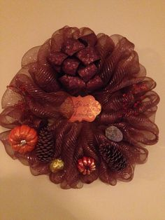 My fall wreath #2 for a double door. -Tamra #lovemystyleboutique