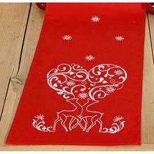 Vervaco® Reindeer & Swirls Long Table Runner Stamped Cross-Stitch Kit - Herrschners