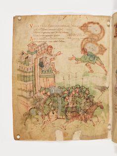 Abraham setzt den Feinden nach, Prudentius: Carmina, ca. 900, Burgerbibliothek Bern Cod. 264, f62
