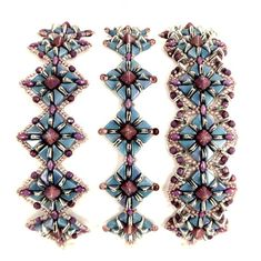 Tango Tutorial 2-hole Beads Bracelet 2-hole Triangle Pattern