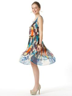 Tracy Reese New York - print silk camisole dress code West