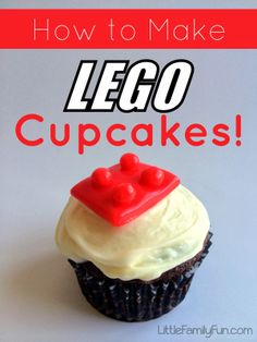 How to make Lego Cupcakes! EASY and Perfect for a Lego Party! Fun Birthday cupcakes for boys!