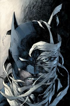 DC comics for August this is the cover for the new edition of Batman: Hush TP, drawn by Jim Lee. Jim Lee Batman, Batman Hush, Batman And Superman, Batman Robin, Batman Stuff, Funny Batman, Batman Arkham, Batman Painting, Batman Artwork