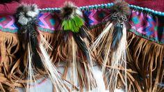 3 pendentifs plumes naturelles collection tribal : Déco, Customisation Textile par claudeplume
