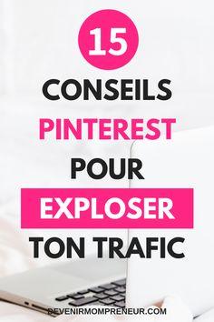 15 conseils pour utiliser au mieux Pinterest et augmenter le trafic de ton blog. Pinterest Profile, Pinterest Blog, Youtube N, Best Blogging Sites, Internet, Rich Pins, Seo Tutorial, Blog Sites, Le Web
