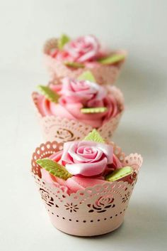 Sweet little cup cakes.