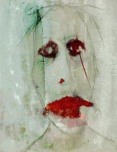 Linda Vachon - Contemporary Artist - Mixed Media - Autoportrait: