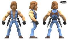 ArtStation - Chuck Norris Stylized action figure render, Brian Baity