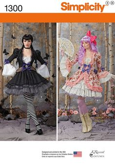 Lolita inspired costume pattern, can work for so many characters.  Simplicity 1300 Adult Costume Overdress and Skirt by ucanmakethis