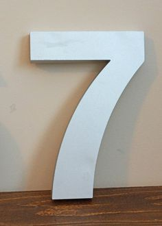 Lucky Number Seven, Vintage Marquee Silver Number 7 $5