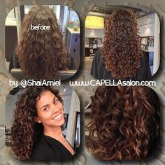 before & after with Gwendolyn Smith www.ShaiAmiel.com www.twitter.com/ShaiAmiel #DevaCut #DevaCurl #DevaCare