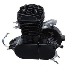 Iglobalbuy Black Air-Cooling 80cc 2 Stroke Engine Motor For Bicycle Mountain Bike Road Chopper W/ V-frame