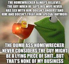 The dumb ass homewrecker