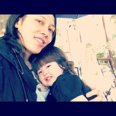 Miyavi on a date with his daughter