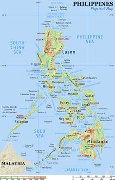 The Philippines - map.