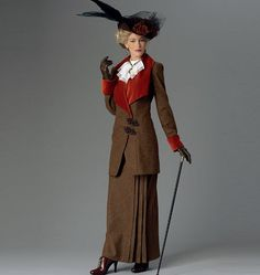 Misses' Jacket Bib and Skirt Butterick Pattern by KlinesCorner