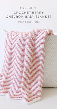 Crochet baby blanket 775533998309063634 - Free Pattern – Crochet Berry Chevron Baby Blanket Source by allyntel Crochet Gifts, Crochet Yarn, Crochet Blankets, Chevron Crochet, Crochet Baby Blanket Beginner, Crochet For Baby, Afghan Crochet Patterns, Crochet Afghans, Baby Afghans