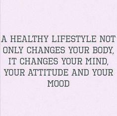 A healthy lifestyle changes everything!