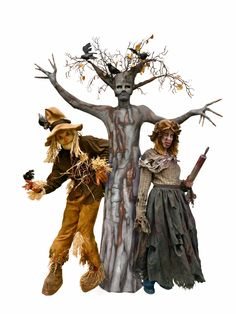Check out this Halloween Trio - TEN31's Scary Scarecrow, Spooky Tree, & Female Zombie -wemakepretend.com