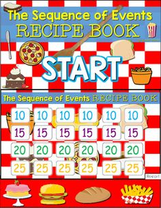 I made a game show version of my Sequence of Events recipe book printable resource with all new recipes! Your students will beg to practice sequence of events. Encourage your students to use the transition words to help them find the correct answer. I also have my students orally list what happened in order and make sure their answer makes sense!  This game is set up Jeopardy style through the use of Microsoft PowerPoint. Just enter the presentation mode from the first slide!  ***Please note…