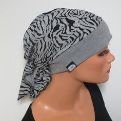 Kopftücher - KOPFTUCH-MÜTZE praktisch bequem CHEMO ALOPEZIE - ein Designerstück…