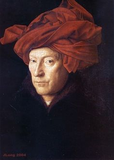 "Van Eyck's ""Portrait of a Man in a Red Turban"" (1433) @Evelyn Spencer Gallery - London, UK"