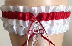 Wedding Garter Set, Bridal Garter Set, Red and White Garter Set, Keepsake Garter, Camo Garter, Garter Toss, Garter Belts, Homecoming Garter, Prom Garters, Wedding Garter Set, Floral Centerpieces, Red Wedding, Wedding Attire