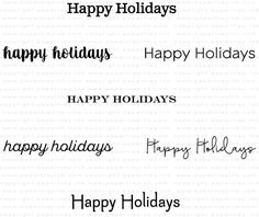 Keep It Simple: Happy Holidays Mini Stamp Set: Papertrey Ink Clear Stamps Dies Paper Ink Kits Ribbon