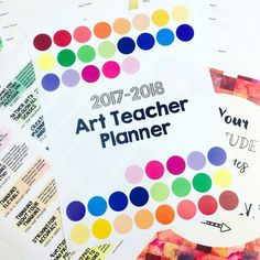 Painted Paper Art's Full Color K-12 Art Teacher Planner | Painted Paper Art