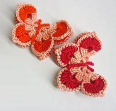 Peach & Red by CatLady30 on Etsy
