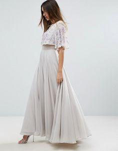 ASOS Embellished Flutter Sleeve Maxi Dress $128.00