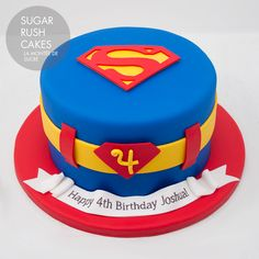 are you looking for awesome ideas to create your Superman cake or need some inspiration for it, look no further, below you can find 23 cool superman cakes Superman Birthday Party, 4th Birthday Cakes, Fondant Cakes, Cupcake Cakes, Bolo Original, Superman Cakes, Supergirl Cakes, Bolo Cake, Superhero Cake