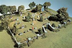 S131 Woodland Scenics HO Maple Leaf Cemetery Kit - #modelscenery #scalemodeling