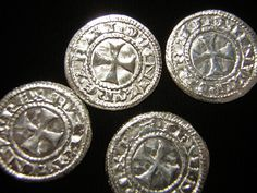 """Image of King Baldwin of Jerusalem, Silver Denier, Crusades Type, """"Kingdom of Heaven"""" ok I think I found another thing to spend my money on"""