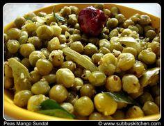 Navrathri Sundal Recipes   Peas Mango Sundal (Pattani Sundal)   Subbus Kitchen