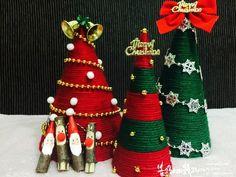 크리스마스 트리 : 털실트리 만들기 : 네이버 블로그