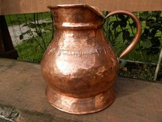 For Norma...Huge Antique French Copper Pitcher / Jug. Vintage Copper Water Jug…