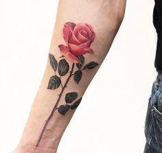 Rose forearm tattoo - 120+ Meaningful Rose Tattoo Designs