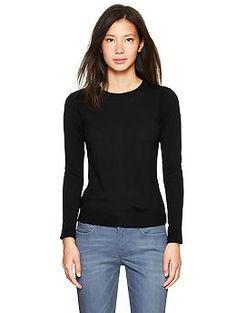Merino sweater in black, rich wine, or summer azalea, size small, from Gap