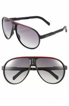 Óculos Carrera Eyewear Men s Champion 62mm Polarized Folding Sunglasses  Black Red  Oculos  Carrera e131db847d