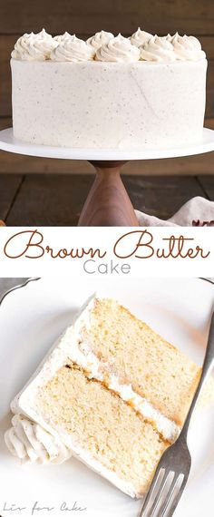 Take classic vanilla cake to the next level with this Brown Butter Cake! A simple change for an intense nutty flavour. Cupcake Recipes, Baking Recipes, Cupcake Cakes, Dessert Recipes, Cupcakes, Cookie Cakes, Köstliche Desserts, Delicious Desserts, Classic Cake