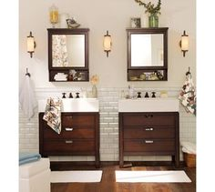 love his&hers sink, especially with the separate storage... but wish this had oval&rectangle mirrors