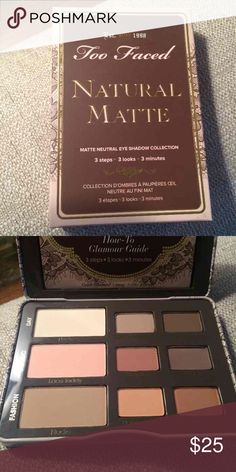 Too Faced Natural Matte Palatte Brand new, never used Too Faced Makeup Eyeshadow