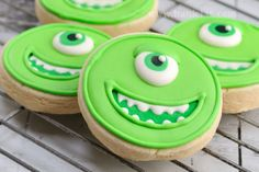Haniela's: Simple Monsters University Cookies, Mike Wazovski
