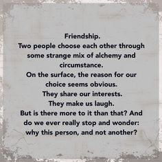 charming life pattern: Being Erica - quote on friendship